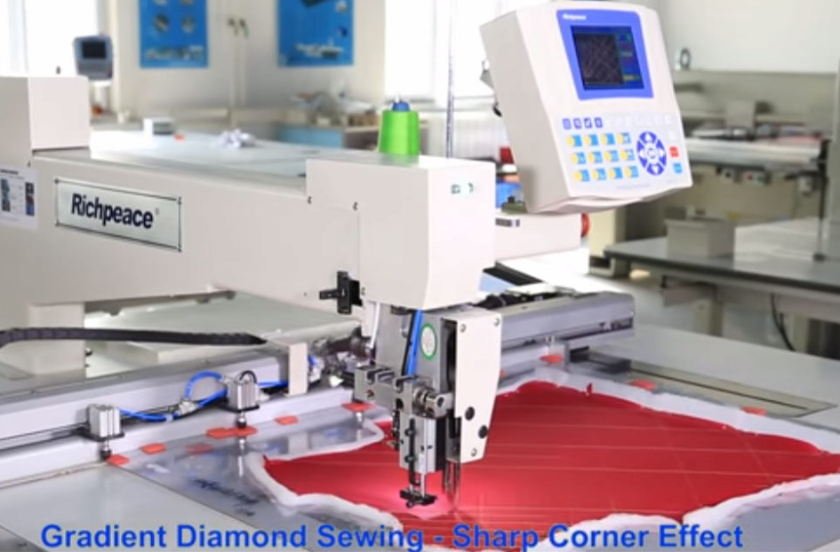 Automatic Long Arm Single Head Auto Sewing Machine - Garment Application