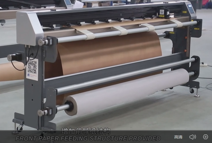 Vertical Inkjet Cutting Plotter with Double Feeding Devices