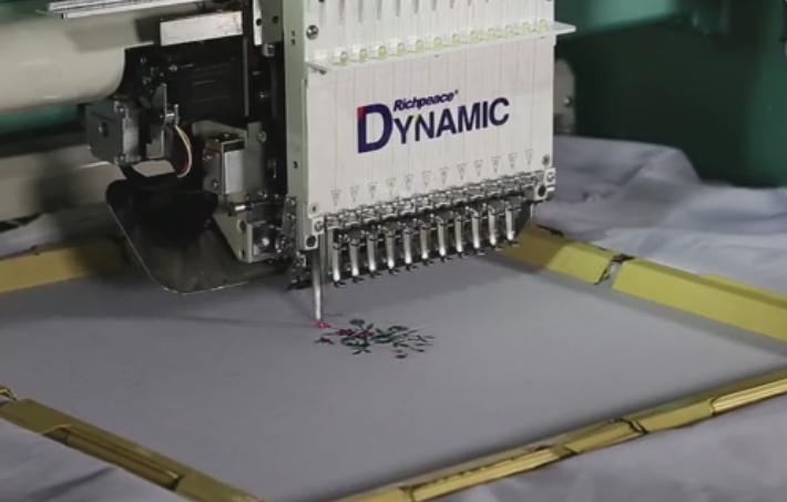 Make cap/tubular embroidery