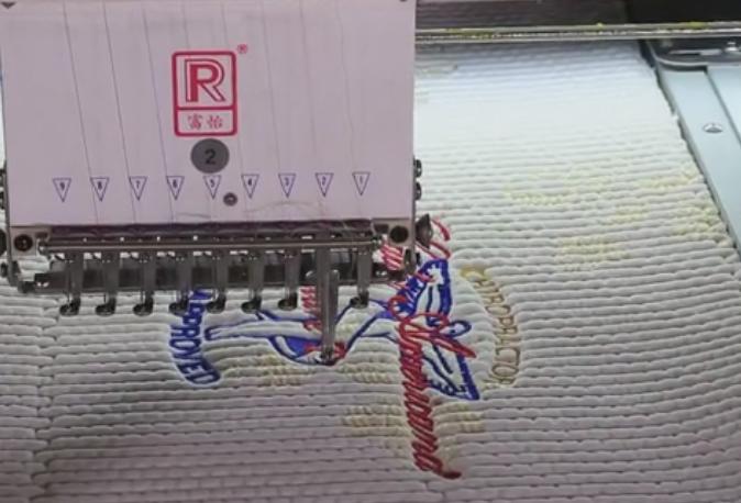Matress border embroidery