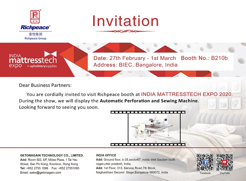 India Mattressthch Expo 2020