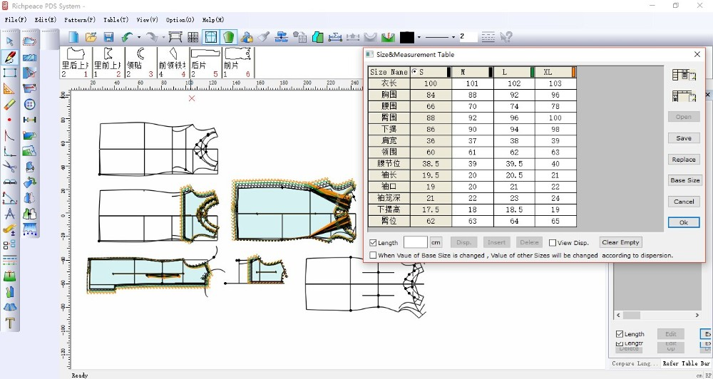 Richpeace Garment Cad V9 0 Garment Cad Cad Software Tianjin Richpeace Ai Co Limited