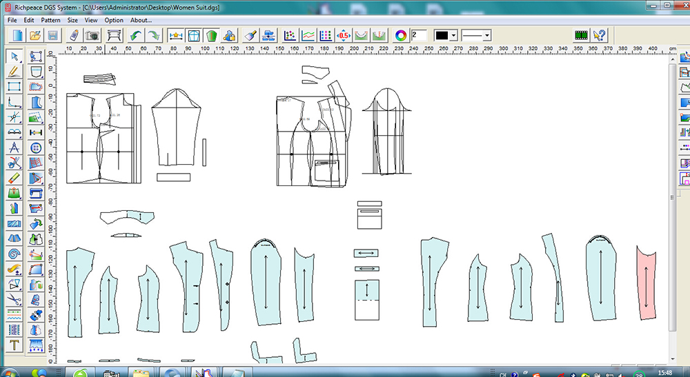 Richpeace Garment Cad V9 0 Education Version Garment Cad Cad Software Tianjin Richpeace Ai Co Limited
