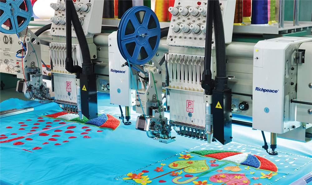 Richpeace Computerized Mixed Chenille Embroidery Machine with Sequin Device