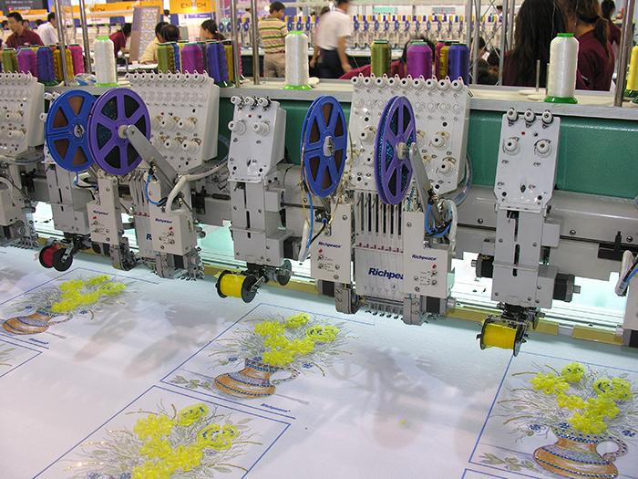 Richpeace Computerized Mixed Coiling Embroidery Machine with Sequin Device