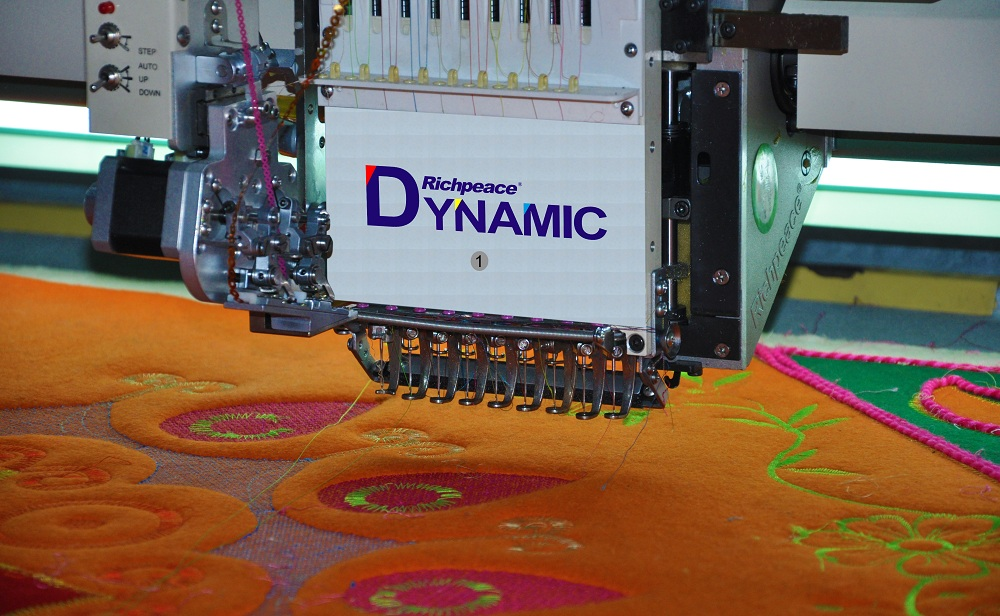 Richpeace Computerized Mixed Coiling Embroidery Machine  (Special Felt Series) With Sequin Device