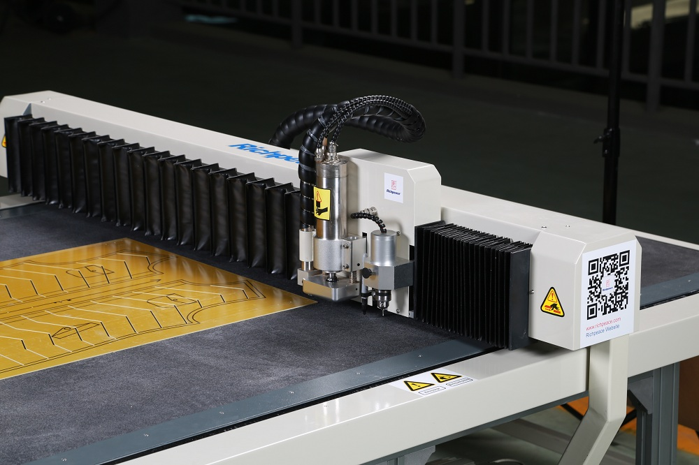 Richpeace Computerized Template Cutting Machine Guide rail shield