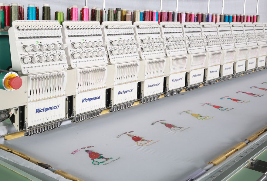 Richpeace Computerized Precise Flat Embroidery Machine with Single Sequin Device and Tracing Cording Device