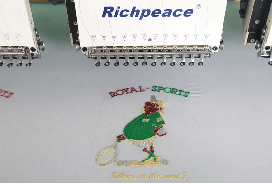 Richpeace Computerized Precise Flat Embroidery Machine Sample