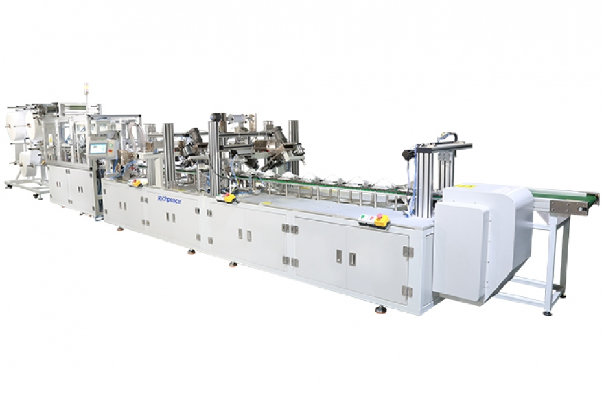 Richpeace disposable mask one-to-two automatic production line, stable and efficient boost production capacity!