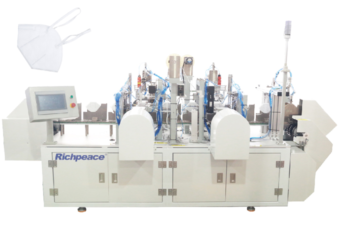 Richpece head loop automatic foldable respirator mask production line