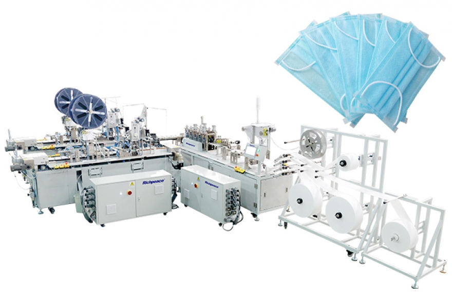 Richpeace 1-to-2 Disposable Mask Automatic Production Line (With Side Cladding Device)