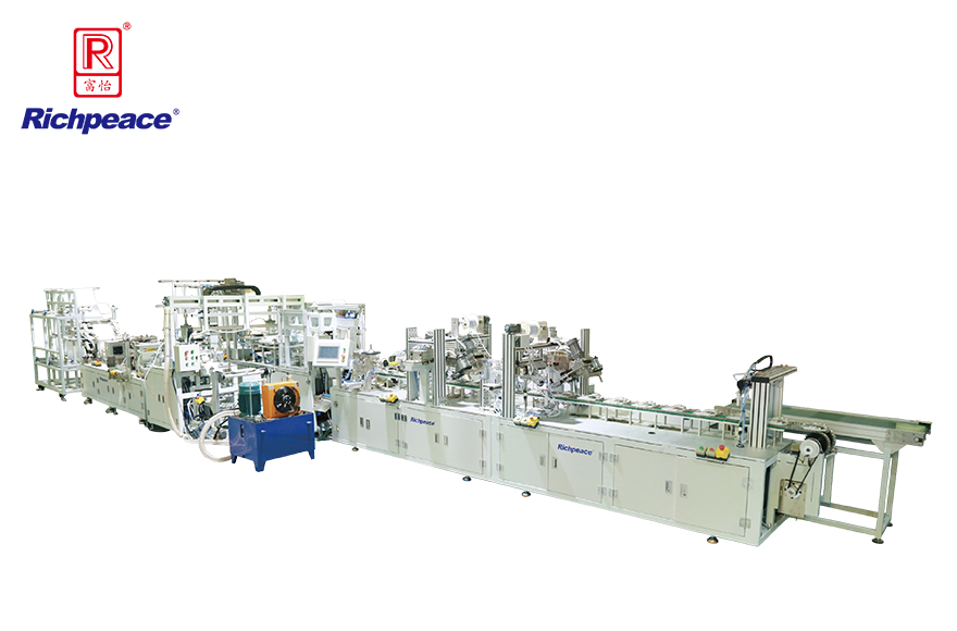 Richpeace Automatic Cup Mask Production LineHeadband Stapling & Pre-forming
