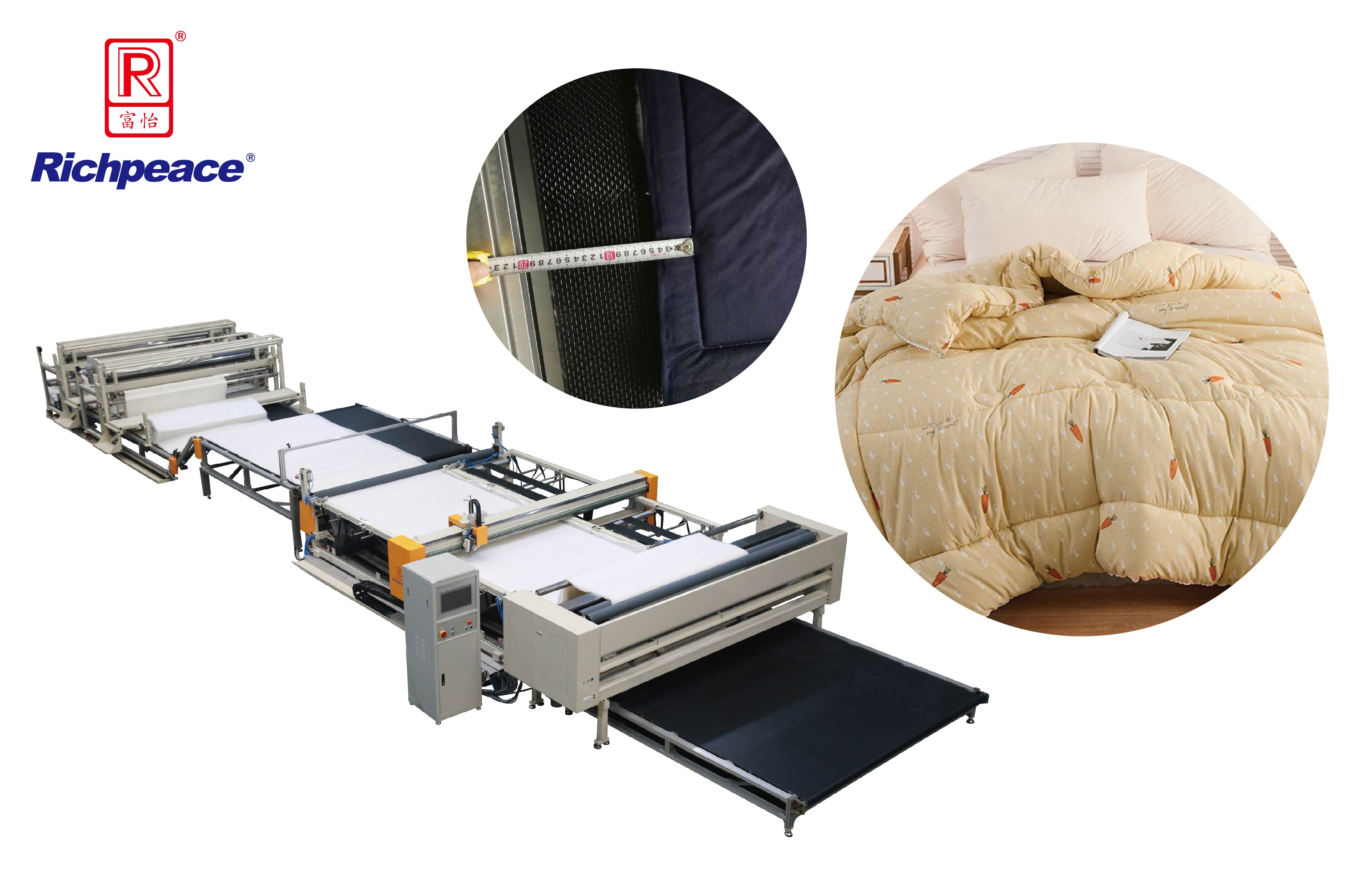 Richpeace Comforter 4-Side Inseam Sewing and Trimming Production Line