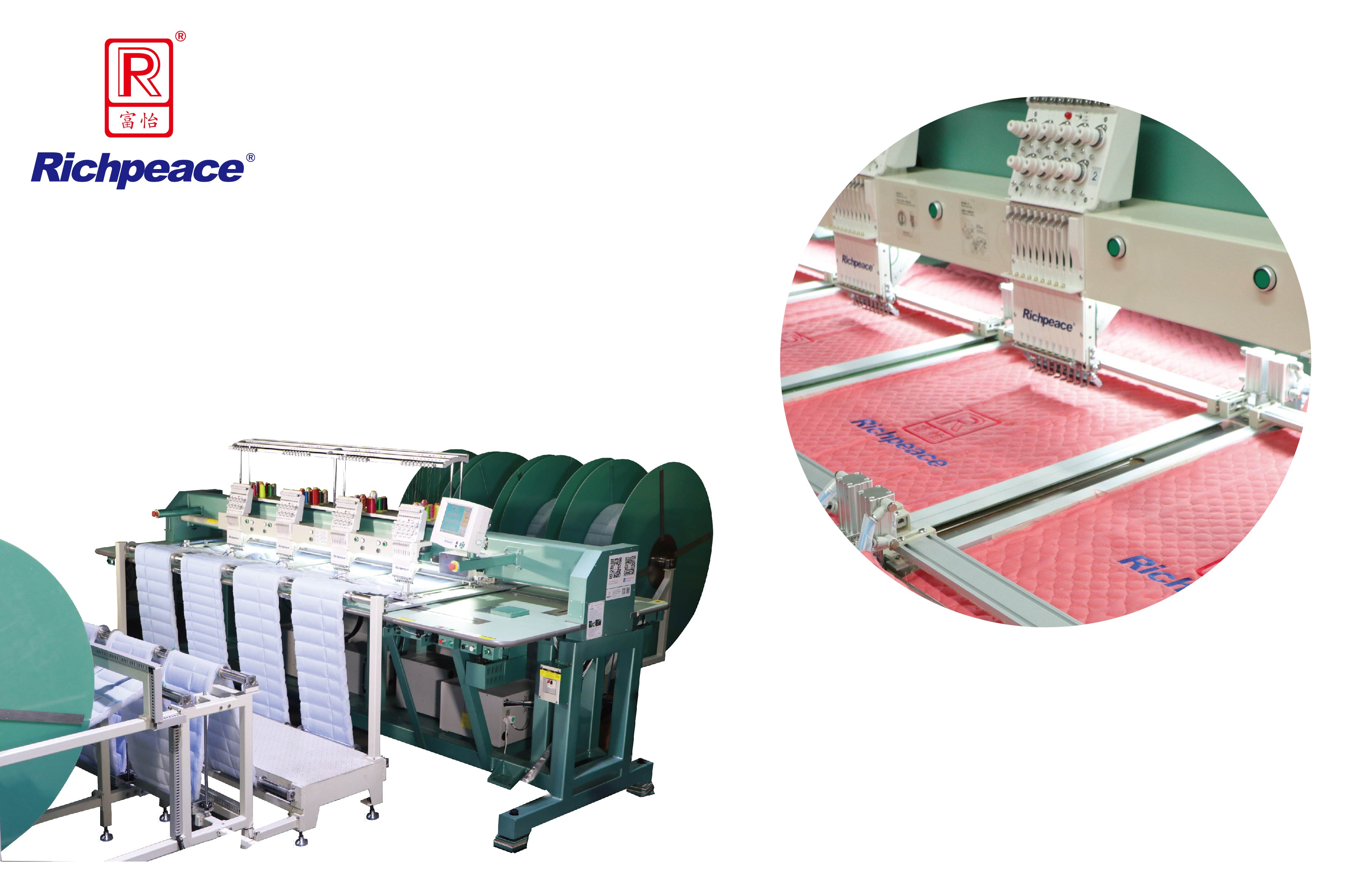 Richpeace Continuous Feeding Mattress Border Embroidery Machine