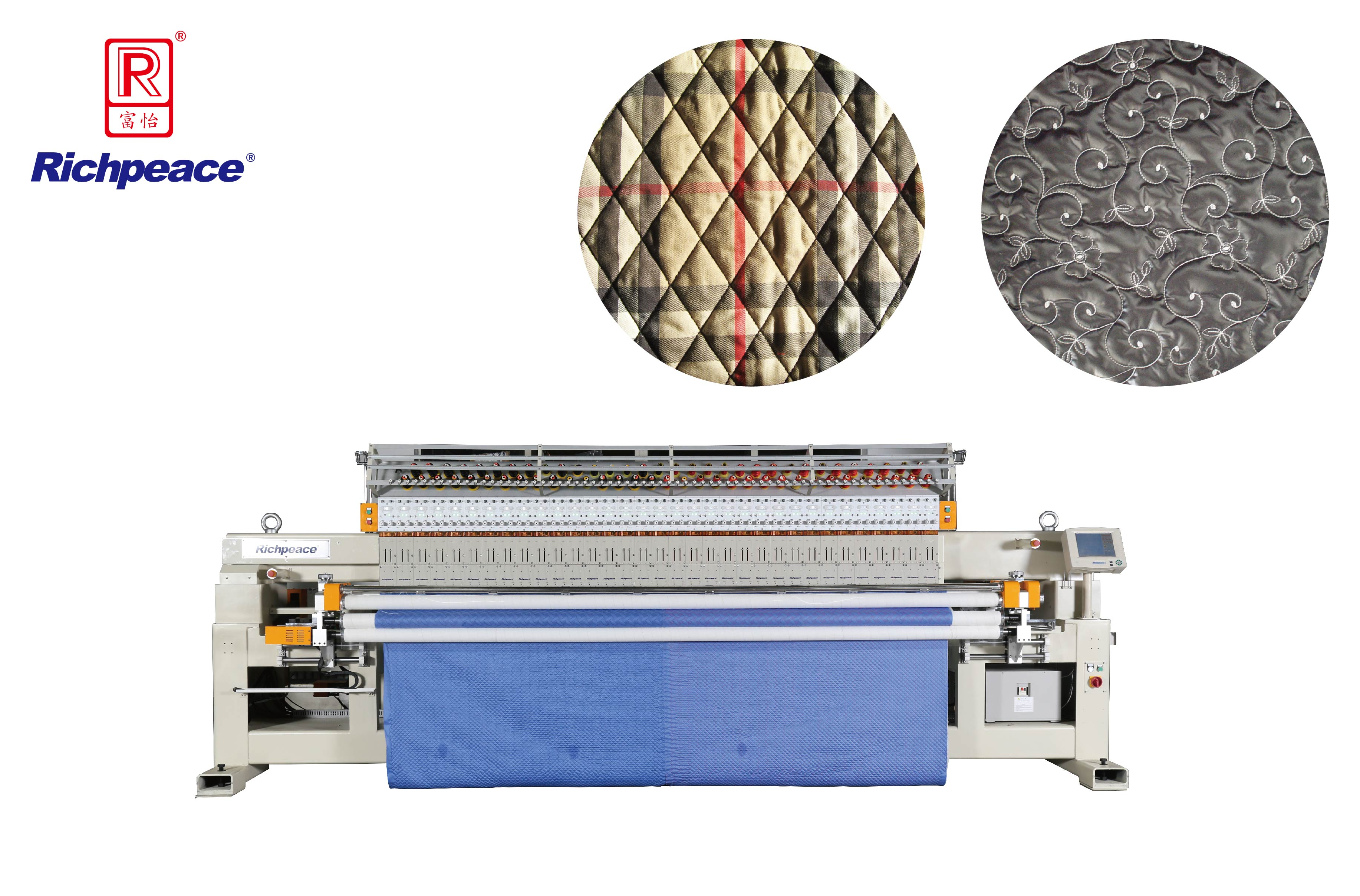Richpeace Computerized Single-color Single Roll Quilting and Embroidery Machine