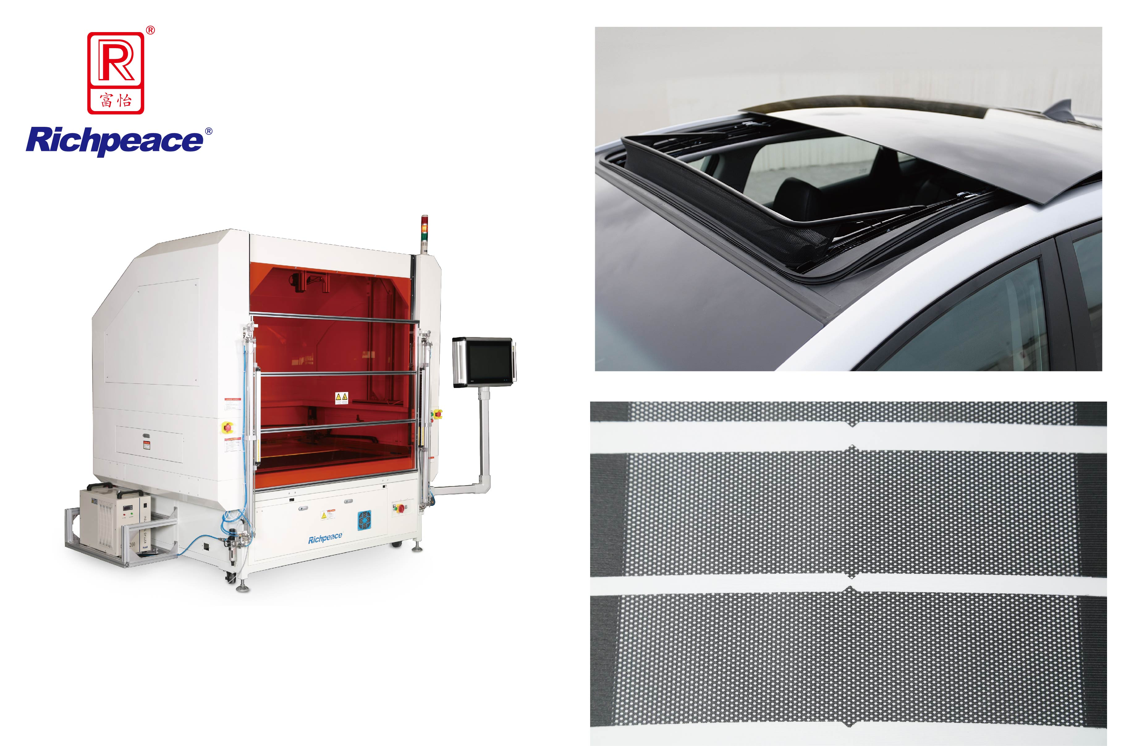 Richpeace Special Laser Cutting Machine for Automotive Sunroof Windshield