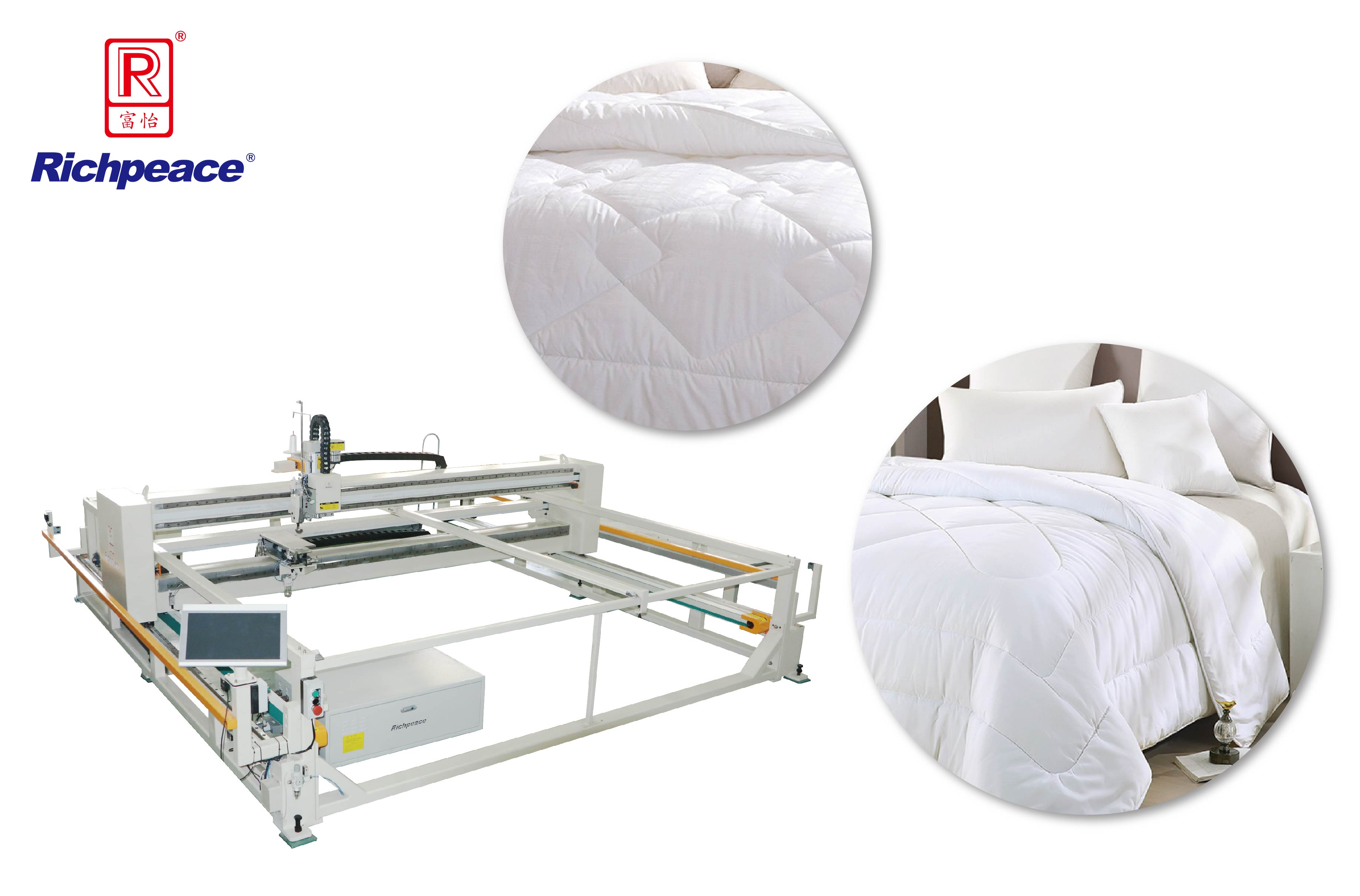 Richpeace Computerized Frame-Type Quilting Machine(Lifting Head)