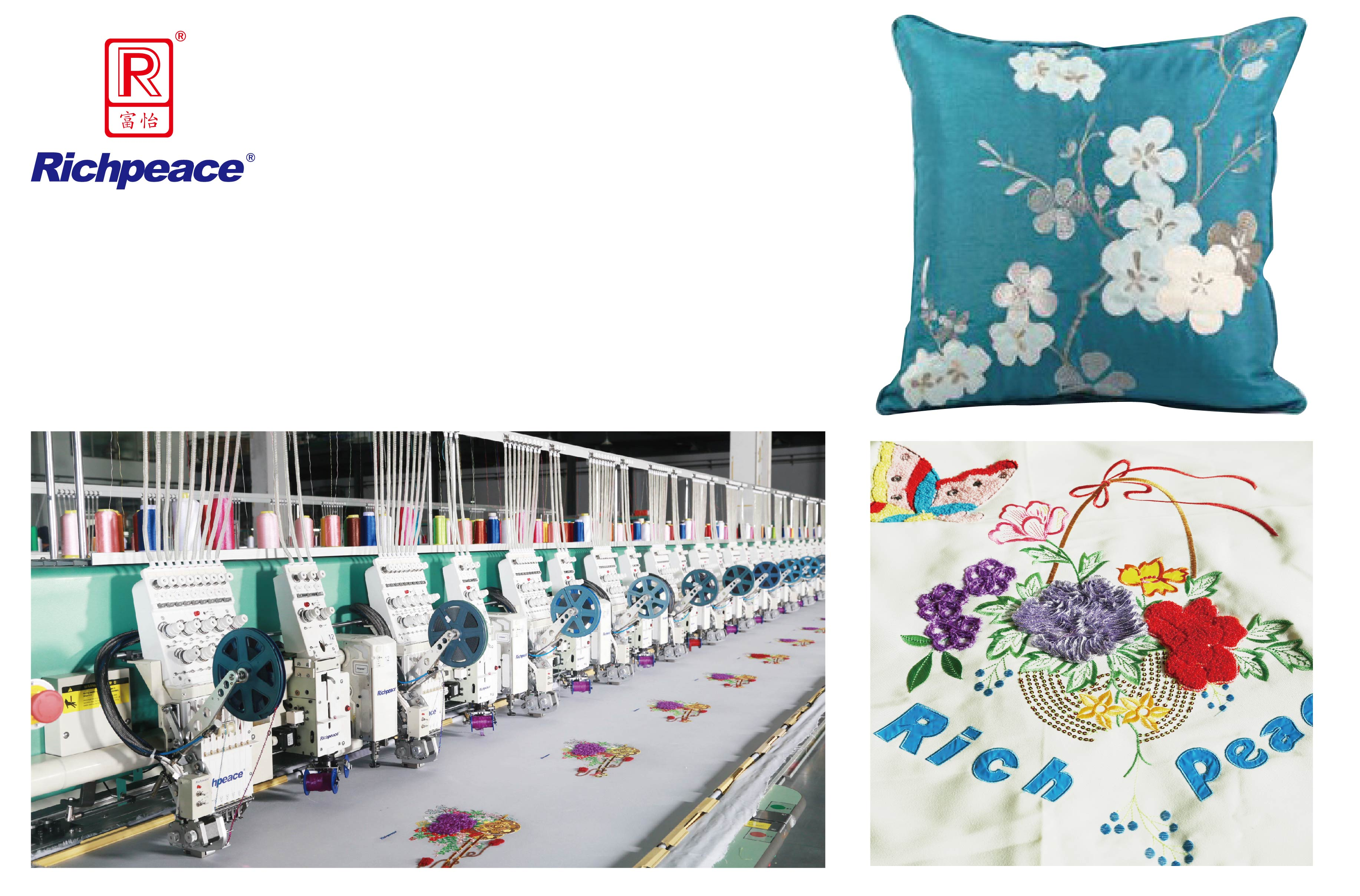 Richpeace Computerized Five-in-one Embroidery Machine