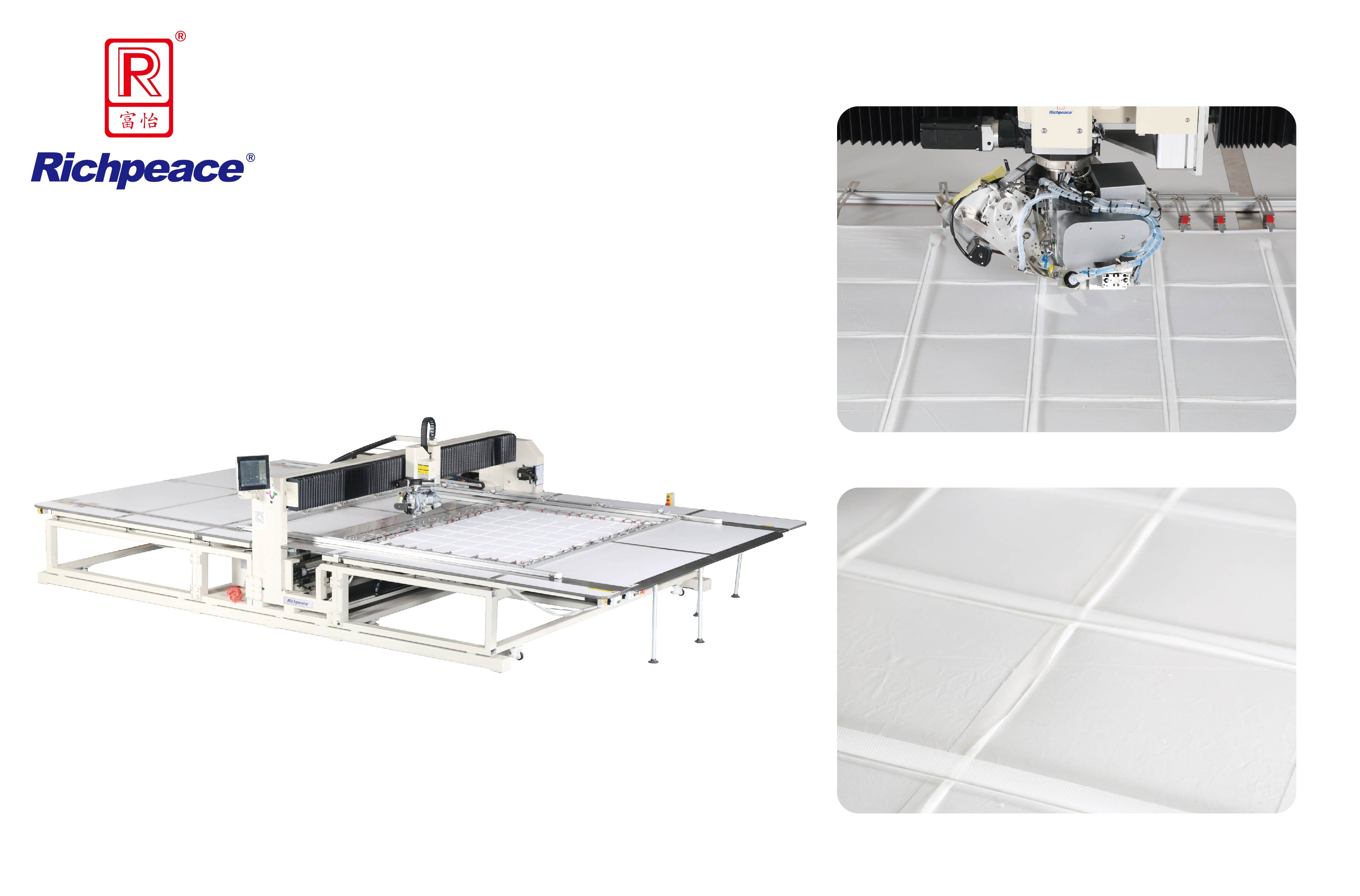 Richpeace Rotary Head Precision Quilting Machine-for Baffle Box Duvet