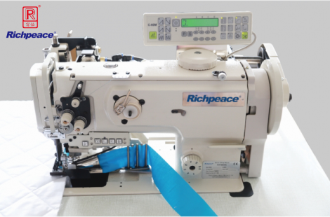 Richpeace Single needle, binding, Compound feed sewing machine with horizontal large hook & on / off side cutter