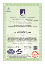 ISO 14001 Certificate of conformity of environment management certification