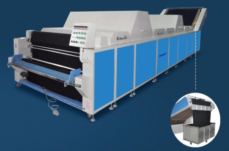 Richpeace Fabric shrinking and forming Machine(with heighten falling fabric device)