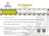 Meet thousands of miles and welcome you at the Richpeace Frankfurt Home Textiles Fair.
