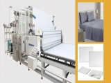 Home textile fabric with a diameter of 1.5 meters and a weight of 2 tons,how to spread the cloth automatically?Richpeace automatic spreading machine for large fabric roll