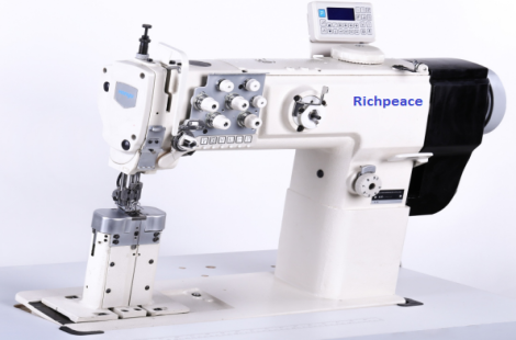 Richpeace Direct drive,post bed,double needle compound feed sewing machine