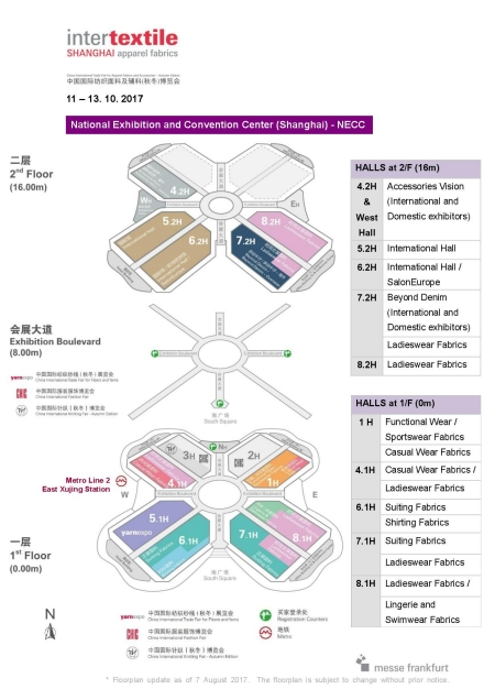 Exhibition floor plan